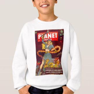 Woman Fighting Monster Sweatshirt