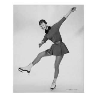 Woman Figure Skating Poster