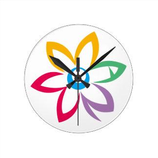 WOMAN FLOWER ROUND CLOCK