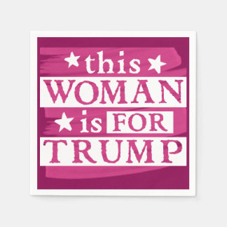Woman for TRUMP themed Paper Napkins