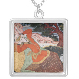 Woman from the Court of Shah Abbas I, 1585-1627 Silver Plated Necklace