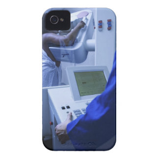 Woman getting mammogram iPhone 4 covers