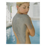 Woman getting spa skin treatment poster