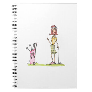 Woman Golfer Notebook