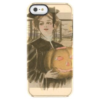Woman Graduation Jack O' Lantern Pumpkin Clear iPhone SE/5/5s Case