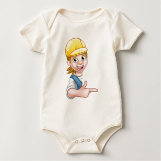 Woman Handyman Carpenter Mechanic or Plumber Baby Bodysuit
