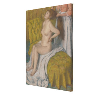 Woman Having Her Hair Combed Canvas Print