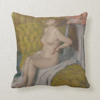 Woman Having Her Hair Combed Cushion
