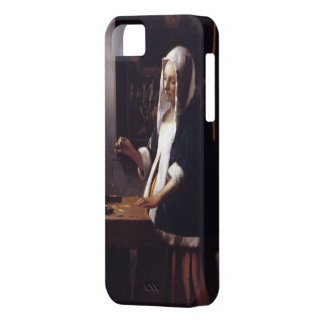 Woman Holding a Balance iPhone 5 Covers