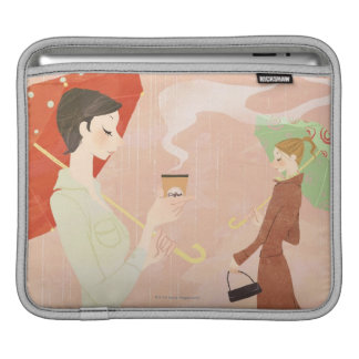 Woman Holding Coffee Sleeve For iPads