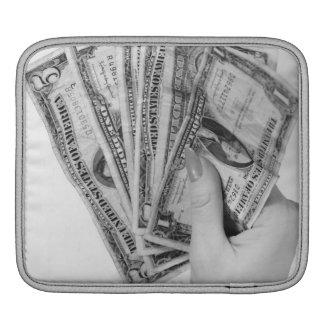 Woman Holding Money iPad Sleeves