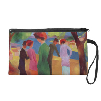 Woman in a Green Jacket, 1913 Wristlet Clutches