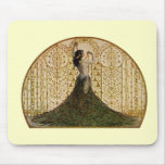Woman in a Peacock Skirt Mouse Pads