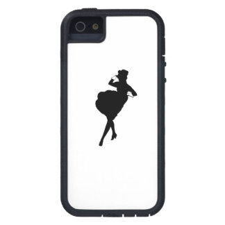 Woman In Ball Gown Silhouette iPhone 5 Cases