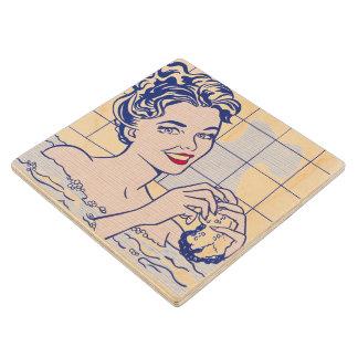 Woman in Bath - Lichtenstein - Vintage Pop Art Wood Coaster