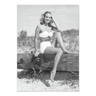 Woman in Bikini Personalized Invite