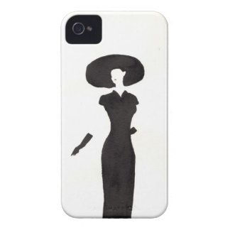 Woman In Black iPhone 4 Cases