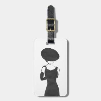 Woman in Black Luggage Tag