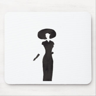Woman In Black Mouse Pad