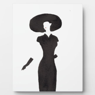 Woman In Black Plaque