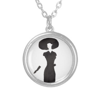 Woman In Black Silver Plated Necklace