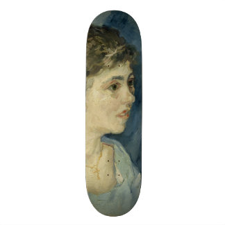 Woman in Blue by Vincent Van Gogh Skate Board