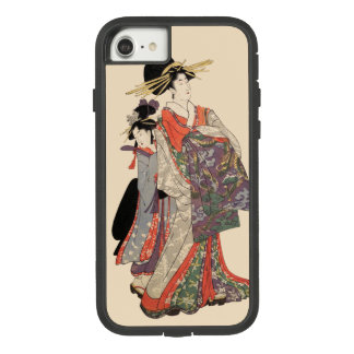 Woman in colorful kimono (Vintage Japanese print) Case-Mate Tough Extreme iPhone 8/7 Case