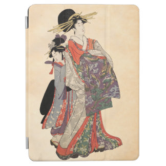 Woman in colorful kimono (Vintage Japanese print) iPad Air Cover