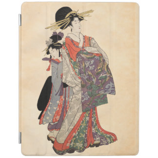 Woman in colorful kimono (Vintage Japanese print) iPad Cover