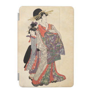 Woman in colorful kimono (Vintage Japanese print) iPad Mini Cover