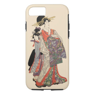 Woman in colorful kimono (Vintage Japanese print) iPhone 8/7 Case