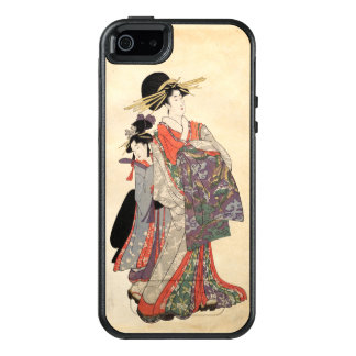 Woman in colorful kimono (Vintage Japanese print) OtterBox iPhone 5/5s/SE Case