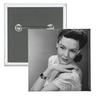 Woman in Evening Gown 15 Cm Square Badge