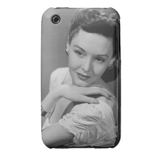 Woman in Evening Gown iPhone 3 Covers