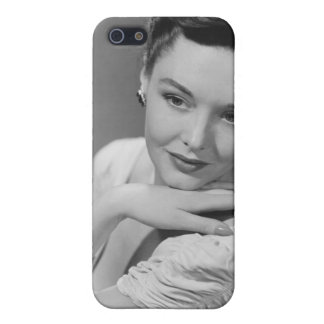 Woman in Evening Gown iPhone 5/5S Covers