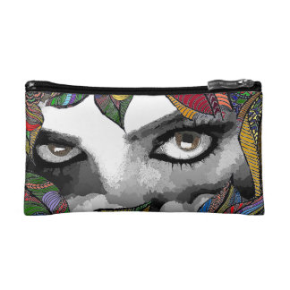 Woman in fears Cosmetic  Bag