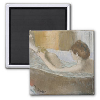 Woman in her Bath, Sponging her Leg, c.1883 Square Magnet