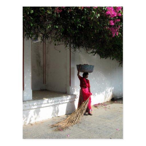 Woman in India Postcard