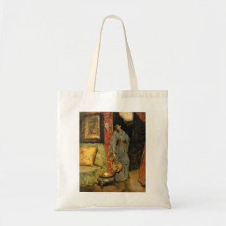 Woman in Kimono with Japanese Fan by William Chase Bag