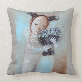 Woman in love pillow