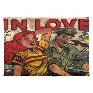 Woman in love placemat