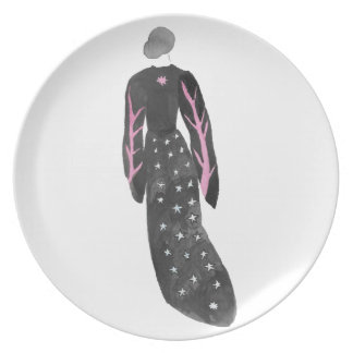 Woman In Robes Plate