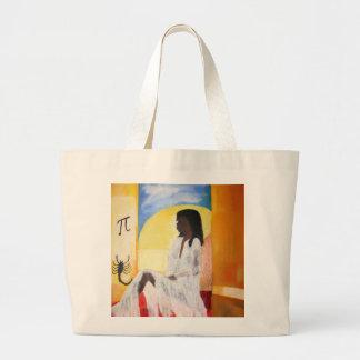 Woman in Solitude Jumbo Tote Bag