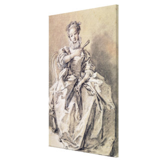 Woman in Spanish Costume Gallery Wrapped Canvas