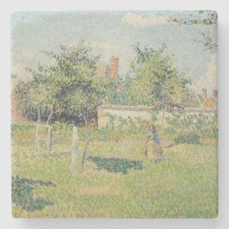 Woman in the Meadow at Eragny, Spring, 1887 Stone Coaster