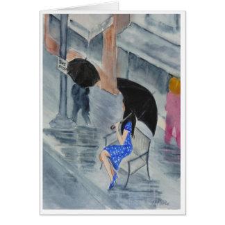 Woman in the Polka Dot Dress Card