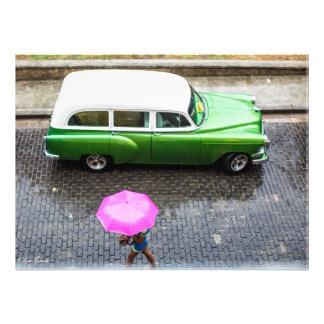 "Woman in the rain 24"" x 20"" Poster"