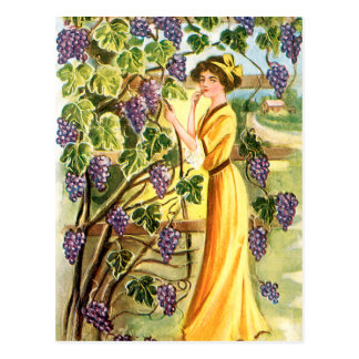 Woman in the Vineyard Postcard