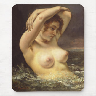 Woman in the Waves Mouse Pad