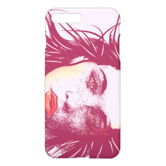 Woman in the Wind, Red iPhone 7 Plus Case